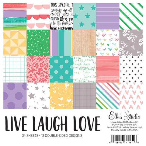 Elle's Studio: Live Laugh Love 6x6 Paper Stack
