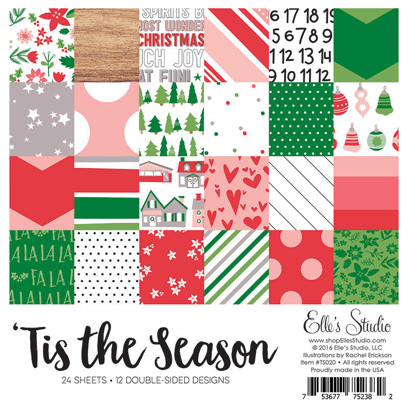 Elle's Studio: Tis The Season Paper Stack