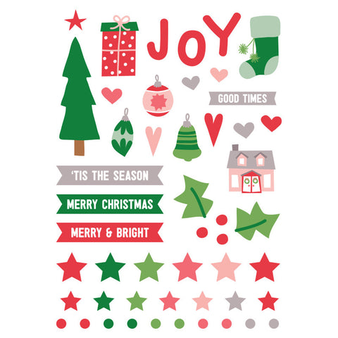 Elle's Studio: Tis The Season Puffy Stickers