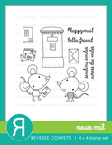 Reverse Confetti: Mouse Mail Stamp Set