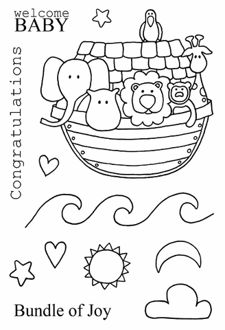 Jane's Doodles: Noah's Ark Stamp Set
