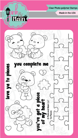 Pink & Main: To Pieces Stamp Set