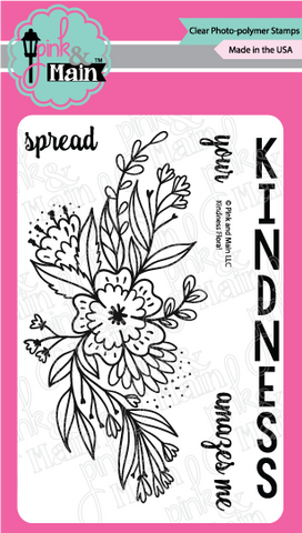 Pink & Main: Kindness Floral Stamp Set