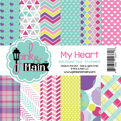 Pink & Main: My Heart 6x6 Paper Pad