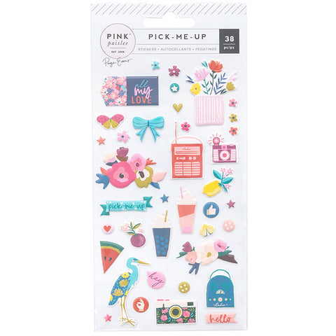Pink Paislee: Paige Evans Pick Me Up Puffy Stickers