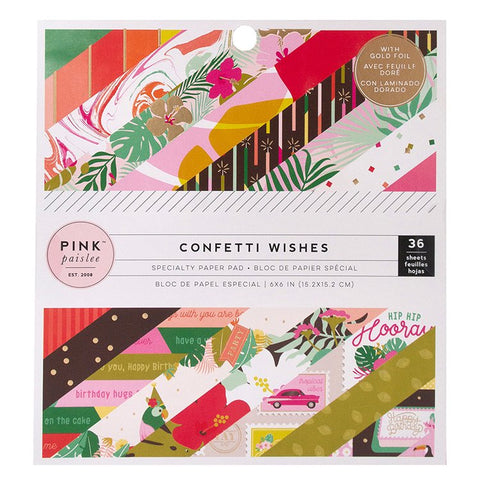 Pink Paislee: Confetti Wishes 6x6 Paper Pad