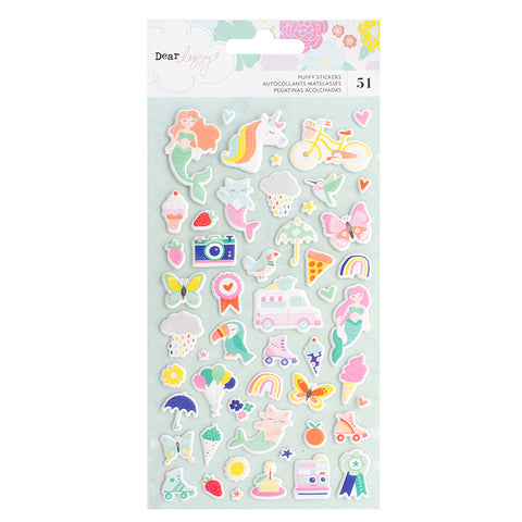 Dear Lizzy: Stay Colorful Puffy Stickers