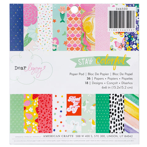 Dear Lizzy: Stay Colorful 6x6 Paper Pad