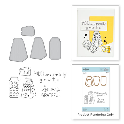Spellbinders: Grateful Stamp and Die Set