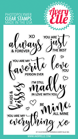 Avery Elle: Favorite Person Stamp Set