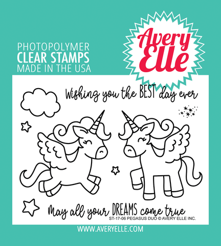 Avery Elle: Pegasus Duo Stamp Set
