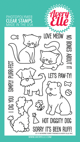 Avery Elle: More Furry Friends Stamp Set