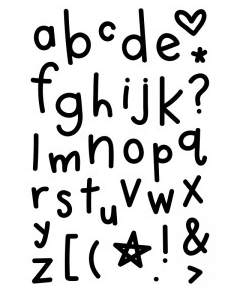 Elle's Studio: Malia Lowercase Alphabet Stamp Set