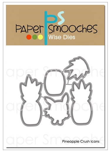 Paper Smooches: Pineapple Crush Icons Dies