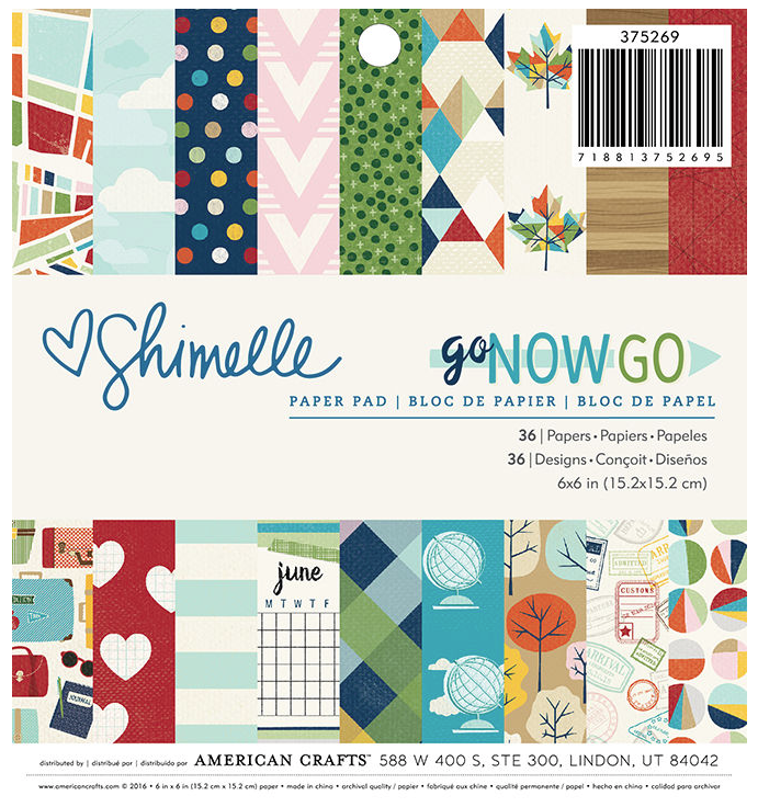 Shimelle: Go Now Go 6x6 Paper Pad