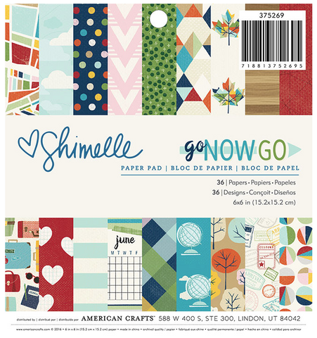 American Crafts Shimelle: Go Now Go 6x6 Paper Pad