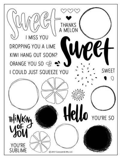Concord & 9th: Orange You Sweet Stamp Set