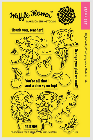 Waffle Flower Crafts: Fruity Thank You Stamp Set