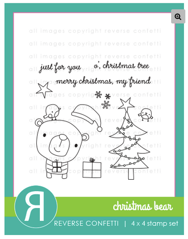Reverse Confetti: Christmas Bear Stamp Set