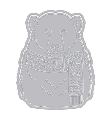 Hero Arts: Paper Layering Bear with Frame