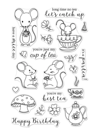 Hero Arts: Mouse Tea Party Stamp Set