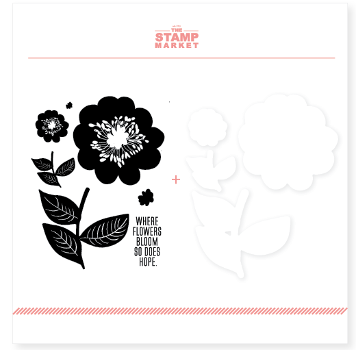 The Stamp Market: Bloom with Hope Stamp & Cut Bundle