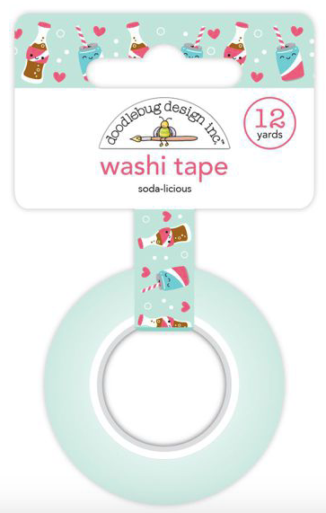 Doodlebug Design Inc: So Punny Soda-Licious Washi Tape