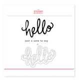 The Stamp Market: Say Hello Stamp & Cut Bundle