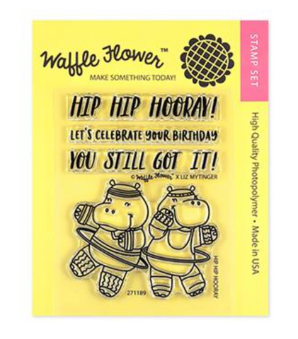 Waffle Flower Crafts: Hip Hip Hooray Stamp Set