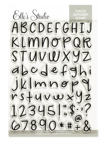 Elle's Studio: Chloe Alphabet Stamp Set