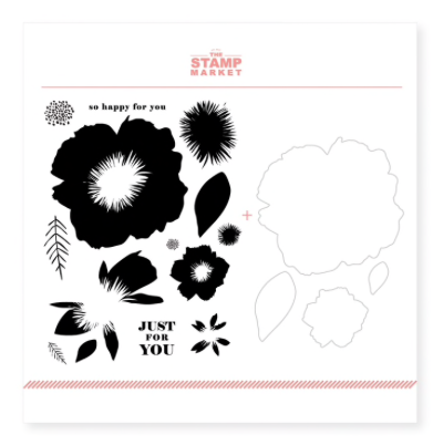 The Stamp Market: Jumbo Blooms Stamp & Cut Bundle