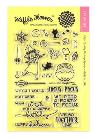 Waffle Flower Crafts: Hocus Pocus Stamp Set