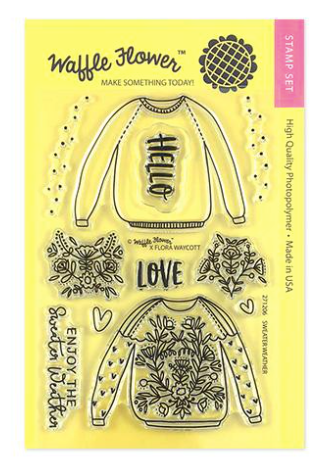 Waffle Flower Crafts: Sweater Weather Stamp Set