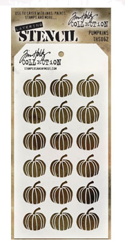 Stampers Anonymous: Tim Holtz Pumpkins Stencil