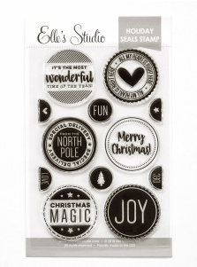 Elle's Studio: Christmas Seals Stamp Set