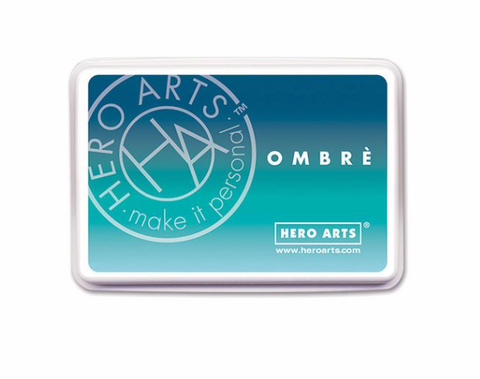 Hero Arts: Ombre Tide Pool to Navy Ink Pad