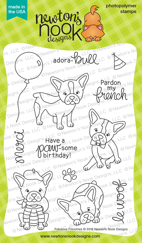 Newton's Nook Designs: Fabulous Frenchies Stamp Set