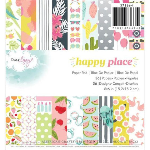 Dear Lizzy Happy Place 6x6 Paper Pad