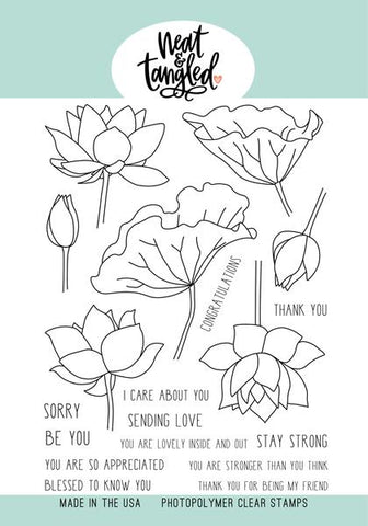 Neat & Tangled: Lovely Lotus Stamp Set