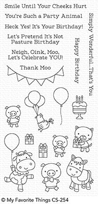 My Favorite Things: Party Animals Stamp Set