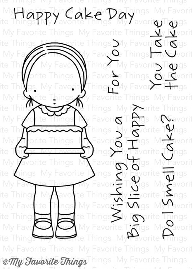 My Favorite Things: Pure Innocence Happy Cake Day Stamp Set