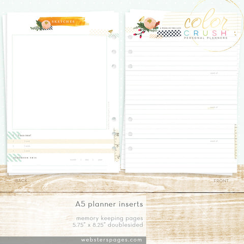 Memory Keeping Inserts (A5)