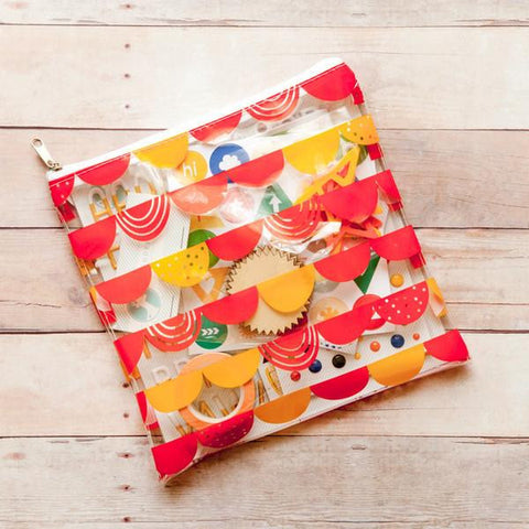 Freckled Fawn: Scallop Banner Zipper Pouch