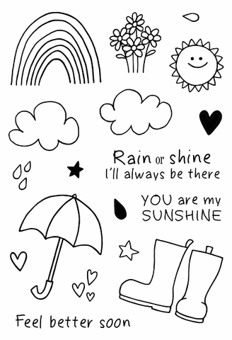 Jane's Doodles: Rain or Shine Stamp Set