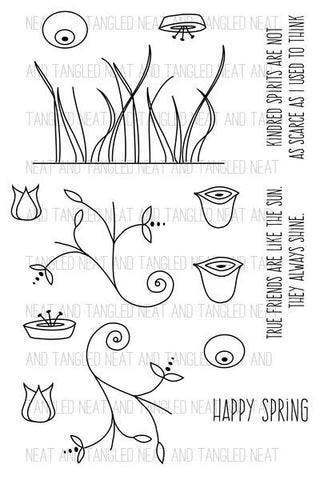 Neat & Tangled: Scandinavian Flowers Stamp Set