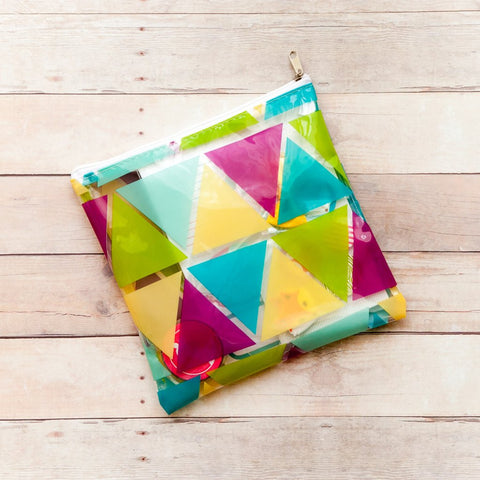 Freckled Fawn: Large Triangles Zipper Pouch