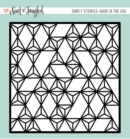 Neat & Tangled: Modern Triangles Simply Stencil
