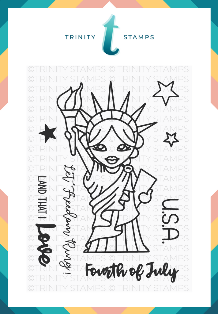 Trinity Stamps: Lady Liberty Stamp Set