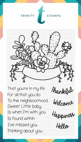Trinity Stamps: Succulent Banner Stamp Set