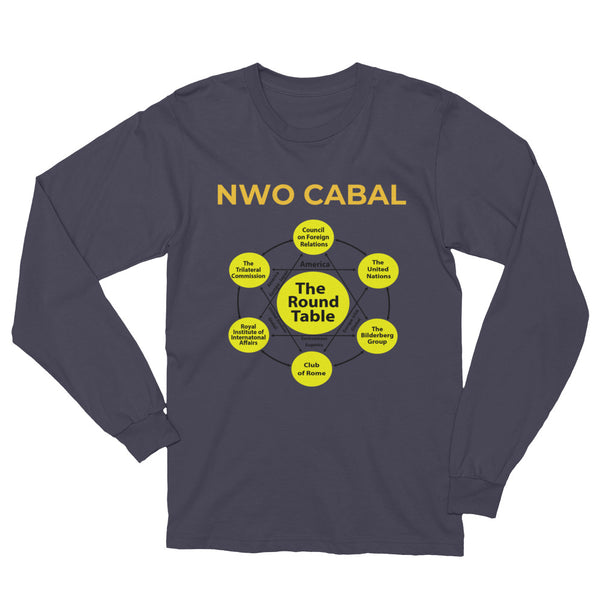 NWO CABAL Long Sleeve Tee - abcsoupgang